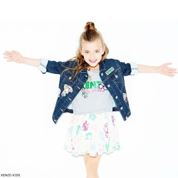 KENZO KIDS Food Fiesta Denim Jacket