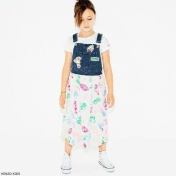 KENZO KIDS Girls Food Fiesta Pinafore Dress