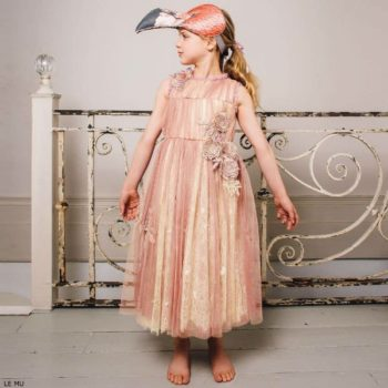 LE MU Girls Pink Supreme Tulle Dress