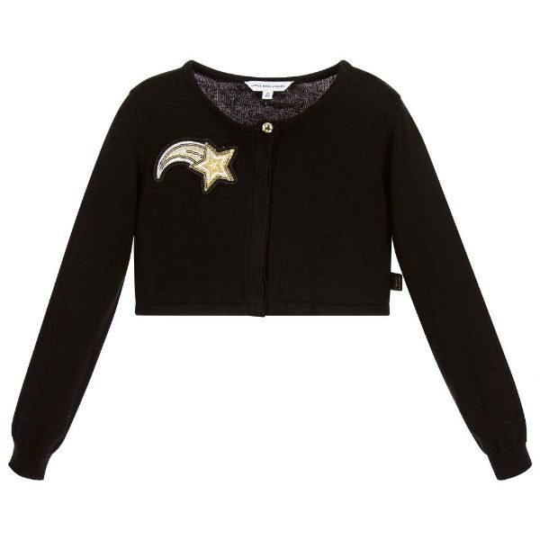 LITTLE MARC JACOBS Girls Black Bolero Cardigan
