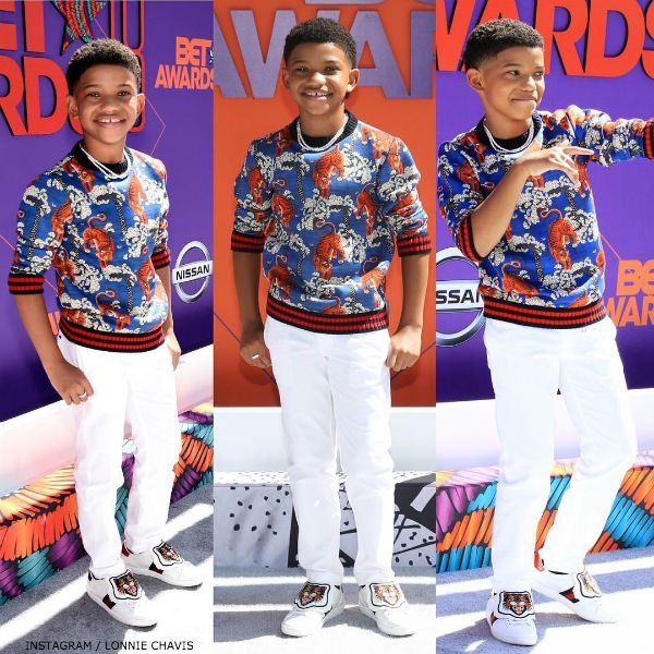 Lonnie Chavis BET Awards 2018 GUCCI Bengal Tiger Sweater