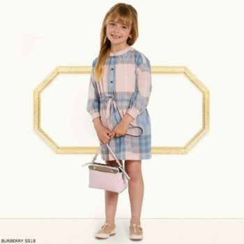 BURBERRY Girls Pink Blue Lola Dress