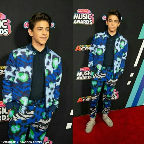 Brandon Rossel Radio Disney Music Awards Kenzo Boys Jungle Splash Print Sweatshirt Sweatpants