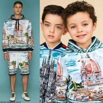 DOLCE & GABBANA Boys Mini Me FIRENZE Sweatshirt Bermuda Shorts