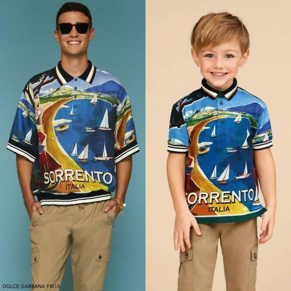 DOLCE & GABBANA Boys Mini Me SORRENTO Polo Shirt