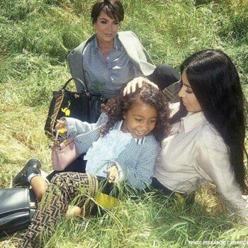 North West Kim Kardashian Kris Jenner Fendi My Peekaboo Campaign