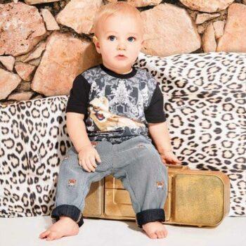 ROBERTO CAVALLI Baby Boys Black Lion Cub T-Shirt & Jeans