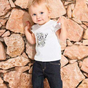 ROBERTO CAVALLI Baby Girls White Leopard Print T-Shirt & Jeans