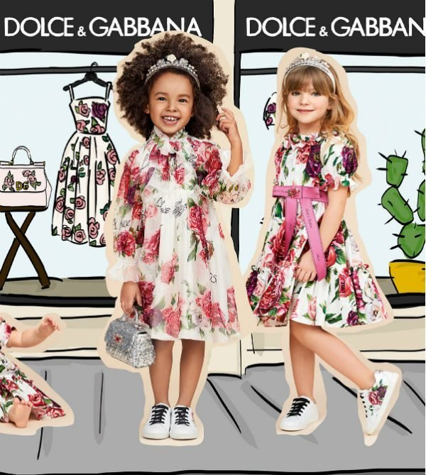 dolce gabbana girls rosetto mini me silk floral dress