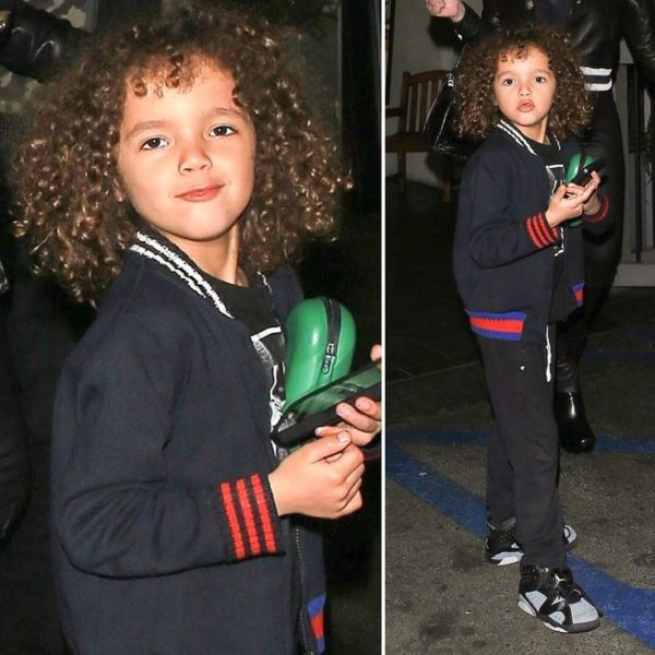 moroccan cannon mariah carey son gucci Blue Vasity Jacket