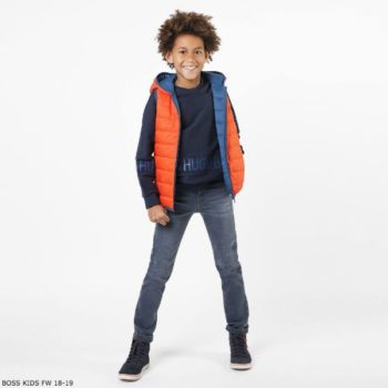 BOSS BOYS Reversible Blue & Orange Down Padded Vest