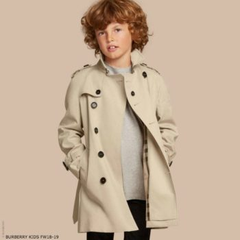 BURBERRY Boys Mini Me WILTSHIRE BEIGE Trench Coat