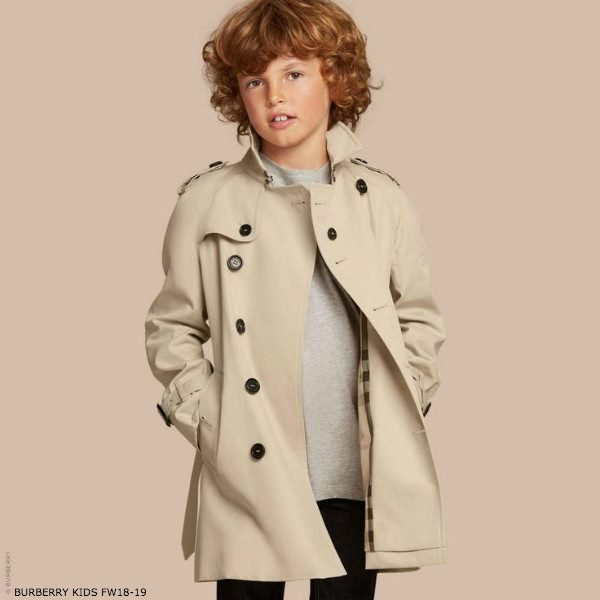 BURBERRY Boys Mini Me WILTSHIRE BEIGE Trench Coat