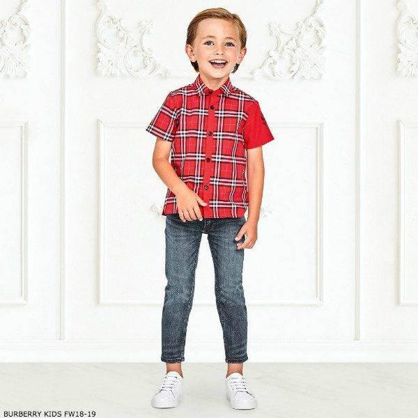 BURBERRY Boys SAMMI EMBLEM Check Shirt Skinny Jeans
