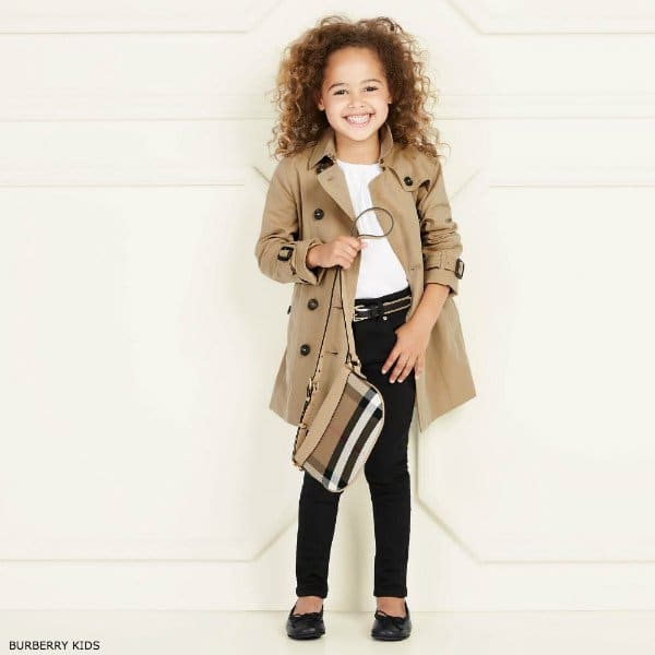 BURBERRY Girls Mini Me Beige Sandringham Trench Coat