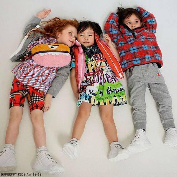 BURBERRY KIDS Graffiti ANNABEL Dress & KAYDEN Fleece Check Jacket