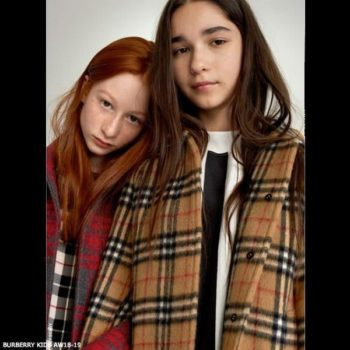 BURBERRY KIDS Mini Me HEPWORTH Check Wool Coat
