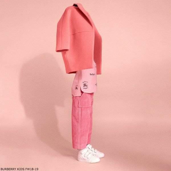 BURBERRY Pink BURBERRY LOGO T-Shirt Edia Wool Coat