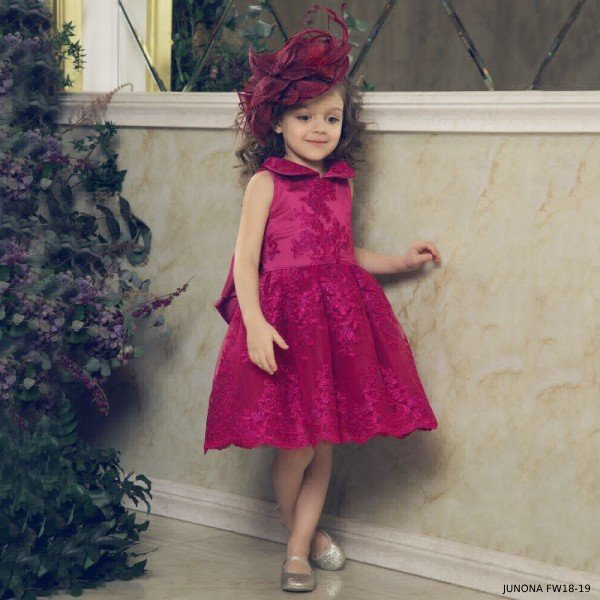 JUNONA Baby Girls Pink Tulle Party Dress Set (1)