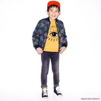 KENZO KIDS Boys COSMIC Reversible Jacket & Yellow Eye Sweatshirt