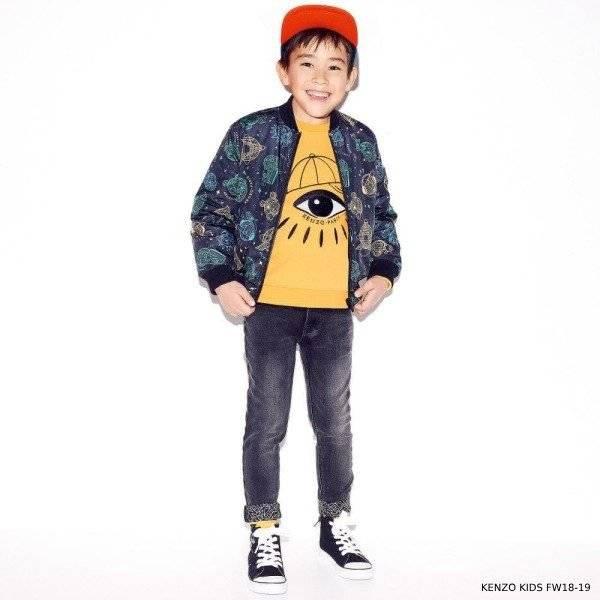 KENZO KIDS Boys COSMIC Reversible Jacket & Yellow Eye Sweatshirt