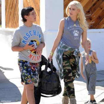 Gwen Stefani's Son Kingston Moschino Milano Vintage Mikcey Sweatshirt Disneyland LA