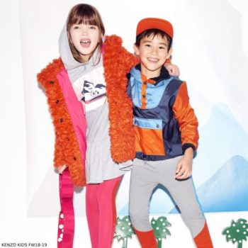 KENZO KIDS Girls Orange Fur Coat Boys Blue Windbreaker