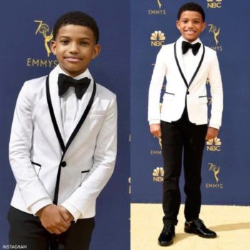 LONNIE CHAVIS - DSQUARED2 BOYS MINI ME WHITE DINNER JACKET EMMY AWARDS 2018