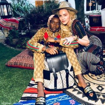 Madonna with son David Banda Gucci Tracksuit 13 Year Old Birthday