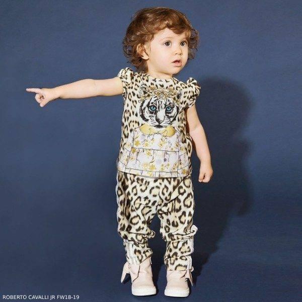 ROBERTO CAVALLI Baby Girl Tiger Print Shirt & Pants