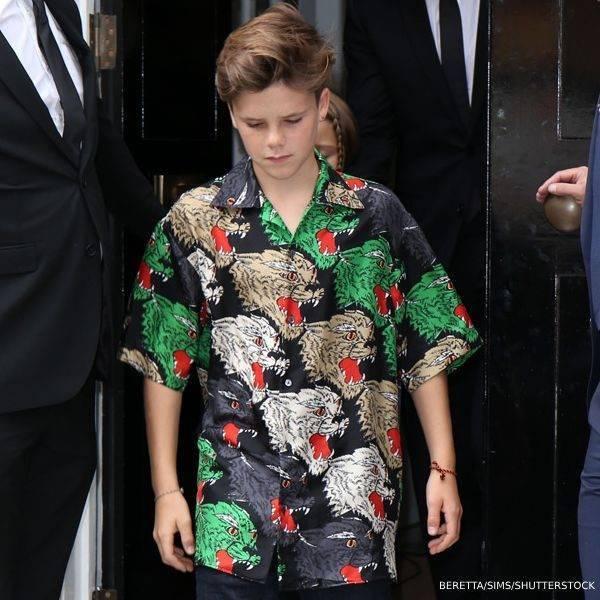 Cruz Beckham - Gucci Panther Face Bowling Shirt London Fashion Week SS19