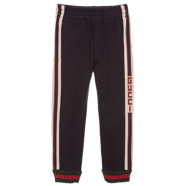 Gucci Kids Unisex Blue Cotton Joggers