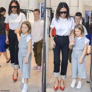 Harper Beckham Sydney Australia Chloe Blue & White Mini Me Overalls