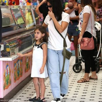 Kourtney Kardashian Penelope Disick LA October 20 2018 GUCCI Princetown Leather Slippers