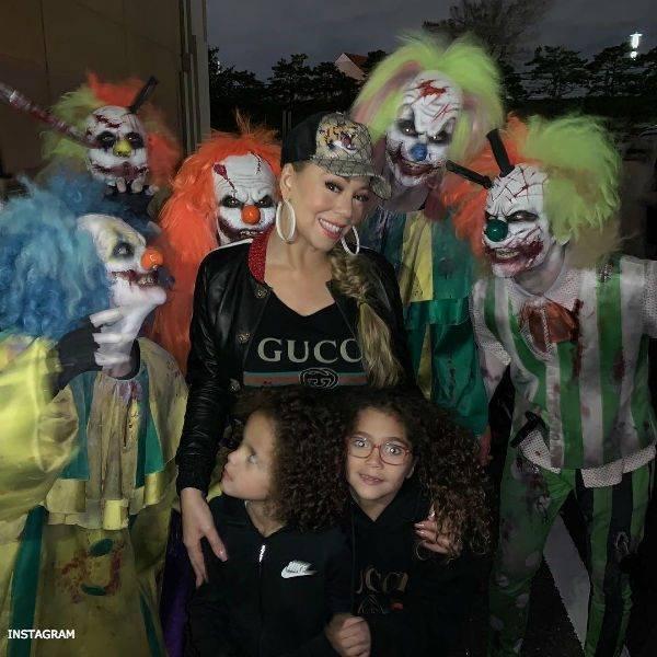 Mariah Carrey Twins Morocco & Monroe Halloween Osaka GUCCI Black Logo Tshirt