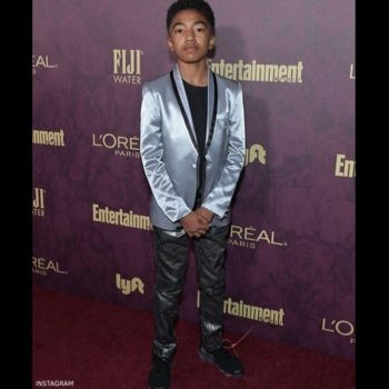 Miles Brown Roberto Cavalli Junior Silver Jacket Emmy Award Party 2018
