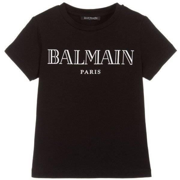 Balmain Boys Black Cotton T-Shirt