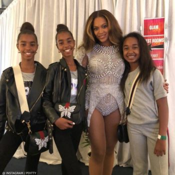 Beyonce D'Lila, Chance & Jessie Combs - GUCCI Linea Totem Bag w: Crystal Butterfly