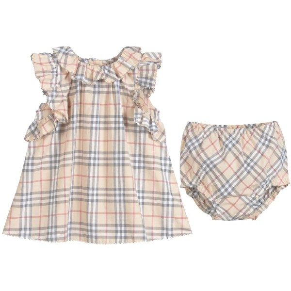 Burberry Baby Girls Cotton Dress Set