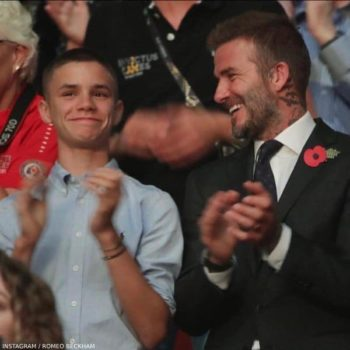David and Romeo Beckham Invictus Games in Sydney Australia - Polo Ralph Lauren Boys Blue Oxford Shirt
