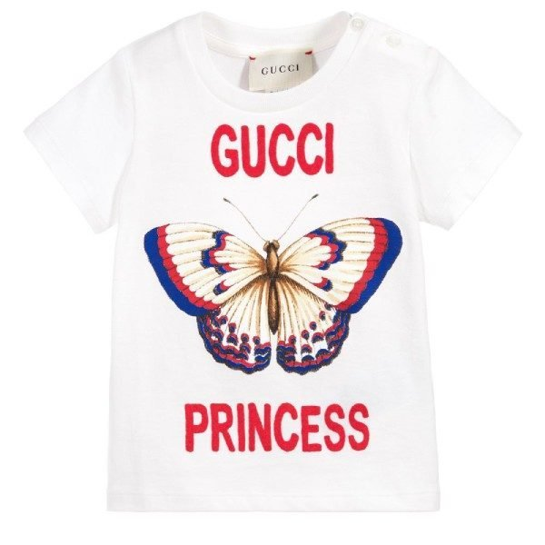Gucci Baby Girl Princess Butterfly Tshirt