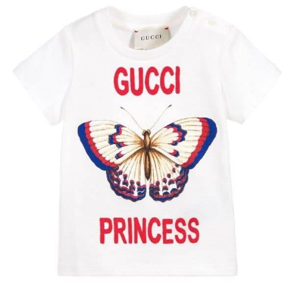 fb9aff5d8373 Dream Kardashian - GUCCI Baby Girl Princess Butterfly T-shirt ...