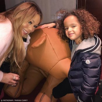 Mariah Carrey Son Morocco Moncler Blue Puffer Coat Hermes