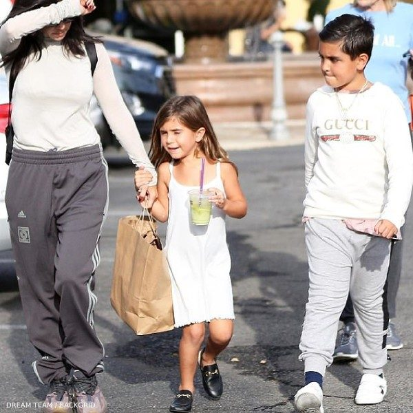 Mason Disick Kournety Kardashian - GUCCI White Sweatshirt Los Angeles October 29 2018