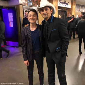 Noah Schnapp Country Music Awards 2018 Scotch Soda Navy Stripe Suit