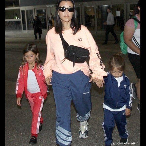 Penelope Disick Kourntey Kardashian - GUCCI Girls Black Princetown Leather Slip On Shoe