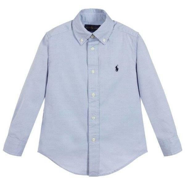 Polo Ralph Lauren Boys Blue Oxford Cotton Shirt