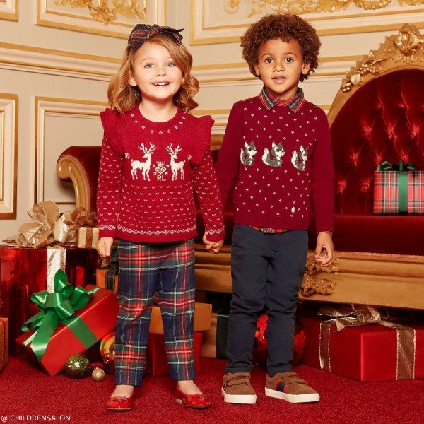 POLO RALPH LAUREN GIRL & PILI CARRERA FESTIVE SWEATERS