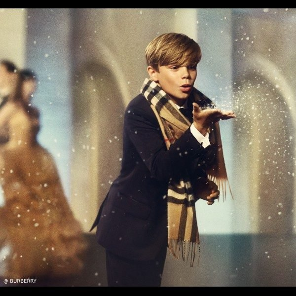 Romeo Beckham Burberry From London With Love Check Cashmere Scarf