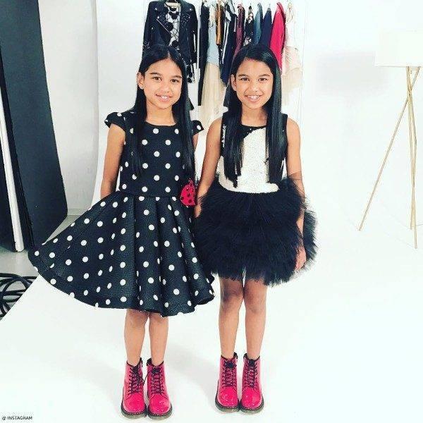 djs amira and kayla black junona dresses harpers bazar video shoot